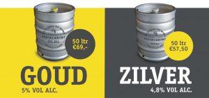 Horecabier goud en zilver bier